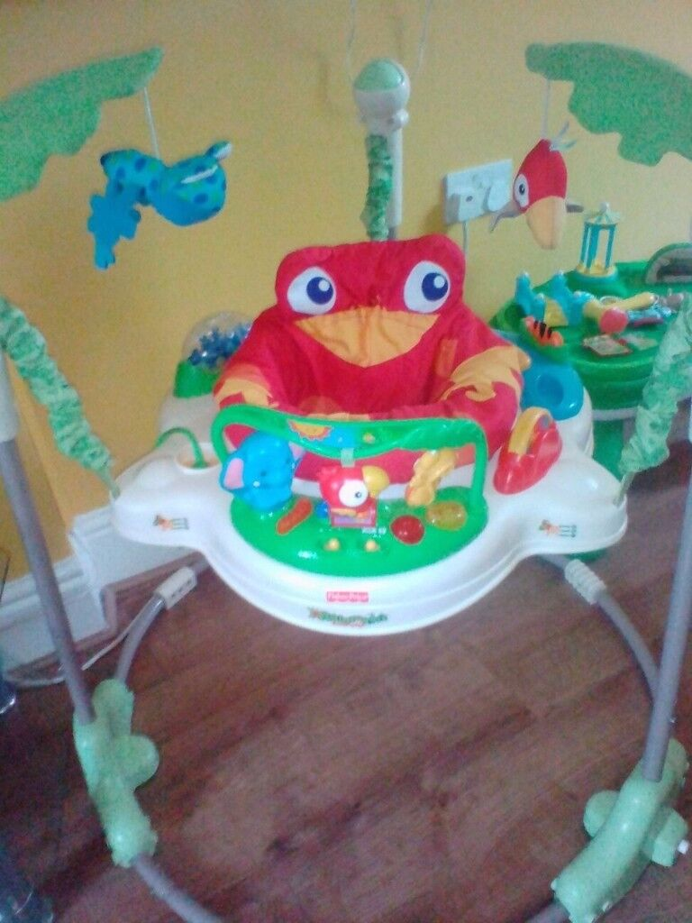 Fisher Price Rainforest Jumperoo (Paid £96.99) - Hours of fun.