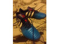 Pair of addidas trainers size 10, good for football practice or just as casual wear