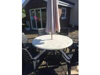 Table and chairs garden furniture