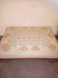 Antique foot stool