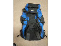Hi Gear Extreme 75 Litre(65 + 10) Backpack, Ruck sack, Blue, used good condition