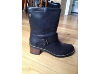 Ladies black ankle boots, size 40/UK6.5-7, hardly worn