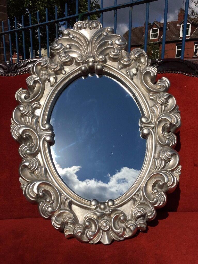 Bathroom Mirror Gumtree french / ornate / rococo silver mirror - new - stunning detail