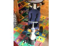 Smart trike, lovely denim colour, like new