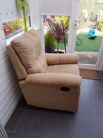 sand colour Recliner Chair