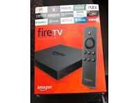 Amazon fire tv with kodi installed.