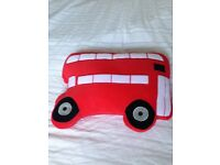 Red Bus Pillow