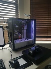 Custom PC, 7700k, Corsair H115i all in one water cooler in a NZXT White glass case. (NO GPU)