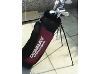 """MENS """"DONNAY PRO 1"""" RIGHT HAND GOLF CLUBS IN STAND BAG"""