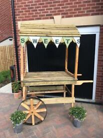 Solid Wooden Display Cart (used once)