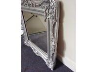 Stylish, hand painted sliver mirror