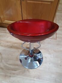Gas lift Bar Stool/Red