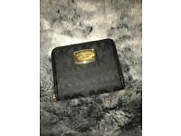 Authentic Michael Kors Bifold Purse Black with monogram NEW