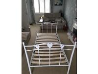 Next Amy white single Bedframe