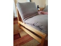 Genuine Futon Company Single Chair/Futon Bed/Armchair (Solid Birch)