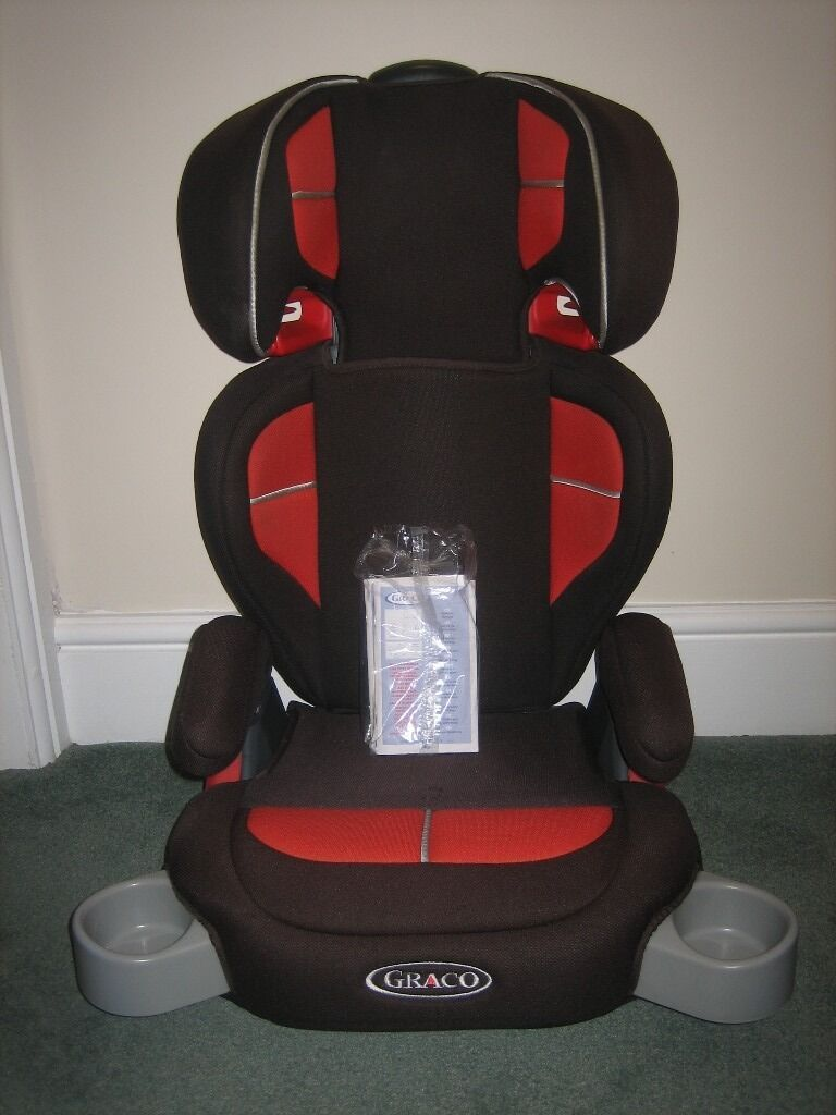 Childs Car Seat Graco High Back Booster Black Red Group 2 3 15