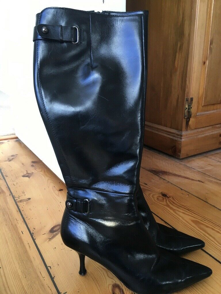 d311858694cd Nine West Black Leather Boots Size 39   in Forres, Moray   Gumtree