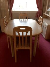 Limed oak veneer living/dining room furniture for sale. Selling as a complete set or individually.