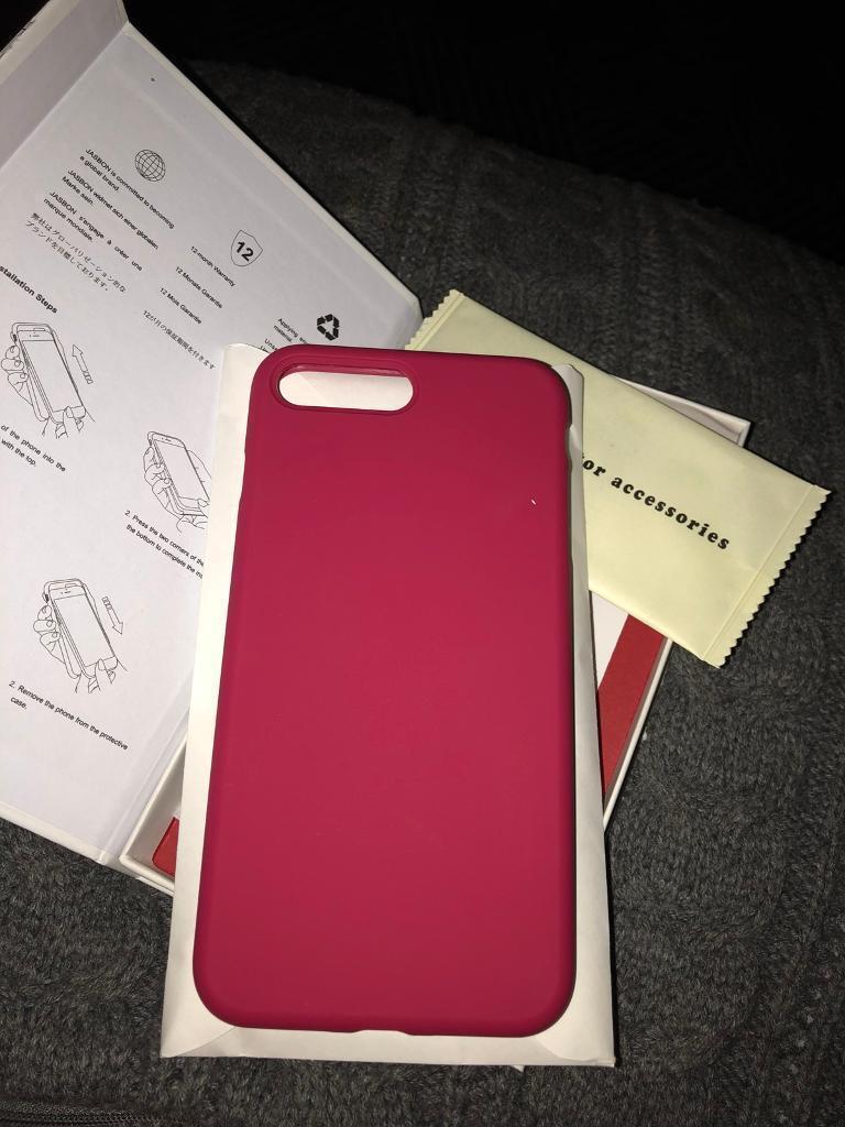 Iphone 8 plus rose red phone case