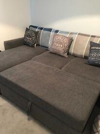 Corner sofa bed ex sterling