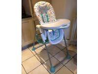 Mothercare highchair, adjustable height