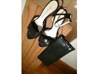 Sparkling Ongaromoda shoe and clutch bag set