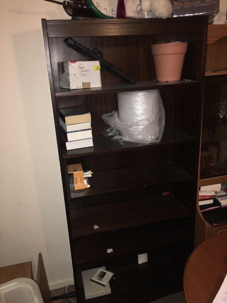 Dark Brown Bookshelf For Only 35