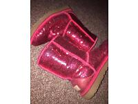 Genuine UGG boots size 5.5 red sequin