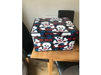 Children's pirate toy boxes
