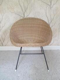 True Vintage 1960's Groovy Atomic Mid Century Satellite/Basket Wicker Chair
