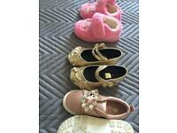 Like new 3 coats and 2 shoes and one pair of slippers