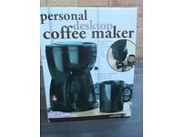 PERSONAL DESK TOP COFFEE MAKER, NEW AND BOXED