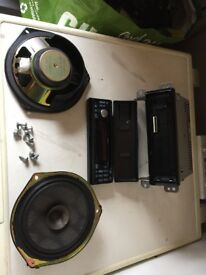 Cd radio and speakers