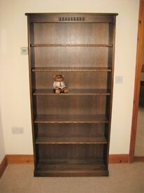 WEBBER SOLID OAK BOOKSHELVES