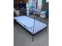 Black metal day bed inc mattress