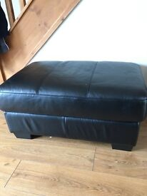 Rectangle Leather DFS poofy. BRAND NEW