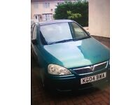 AUTO Vauxhall corsa, air con, mot til may 2017, good runner, crack on windscreen, good condition