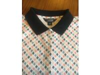 Lands End collared Tshirt large new