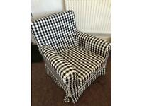 IKEA Ektorp Armchair in black and white check (Like new!)