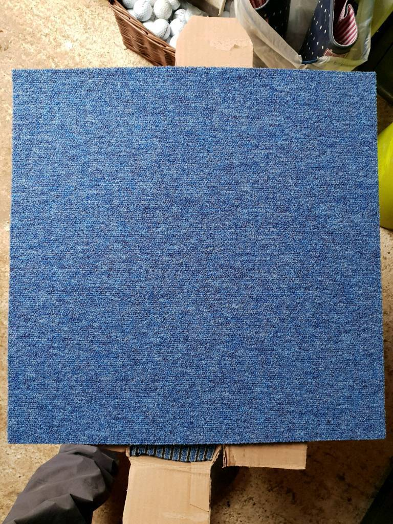 Desso Essence 40x 50cm Blue Carpet Tiles. Carterton ...