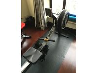 Lightly used (233km) Concept2 Model C PM3 with mat for sale