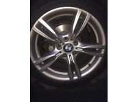 """Bmw f30 3 series 400m alloys 18"""" including tyres"""