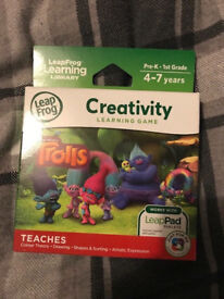 Leap frog learning Leap pad game Trolls Brand new