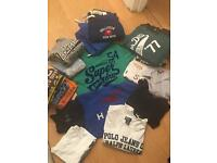 Brand names Superdry and Hollister clothes