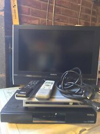 Humax 24 inch LCD TV with free DVD Player and Digital Box
