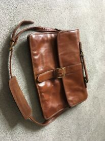 Hidesign Vintage Brown Leather Briefcase