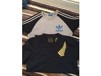 Adidas t, and all blacks