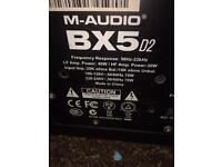 M audio bx5a d2 studio monitors
