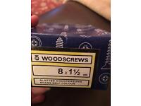 BRASS WOODSCREWS COUNTERSUNK SLOTTED 8x11/2
