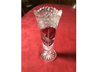 Vintage (1950's) crystal vase 29cm high